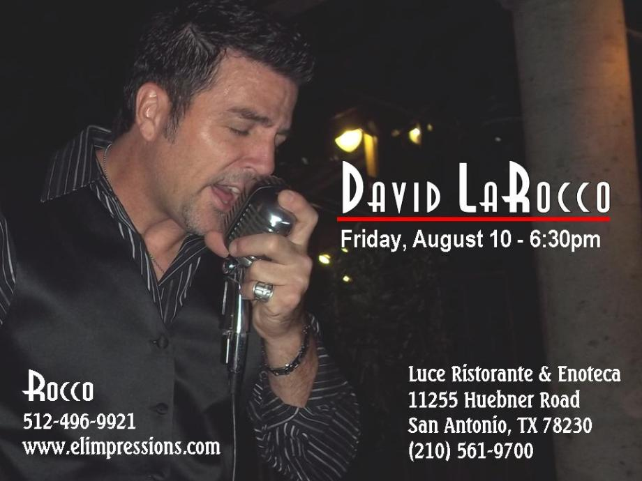 Rocco Performs Live Friday August 10th, 2012 630PM